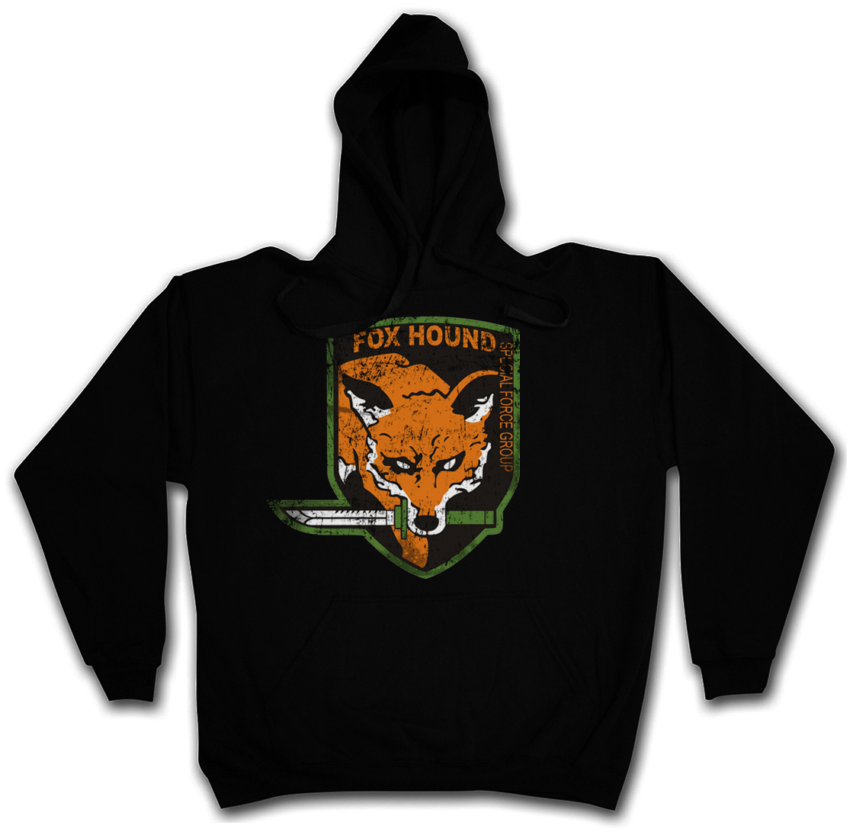 Image Is Loading FOXHOUND LOGO HOODIE Symbol Big Boss Metal Gear