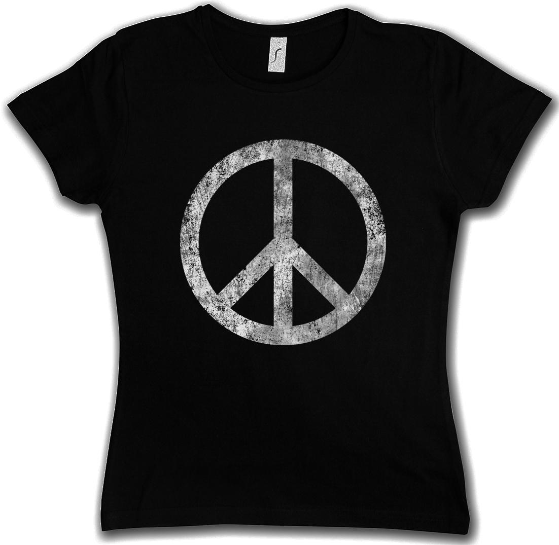 PEACE Friedenstaube Girlie-T-Shirt royalblau