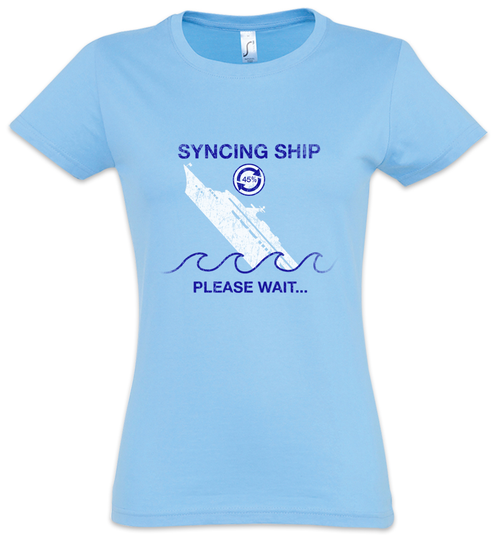 Syncing Ship Women T Shirt Computer Science Scientist Fun Geek Nerd