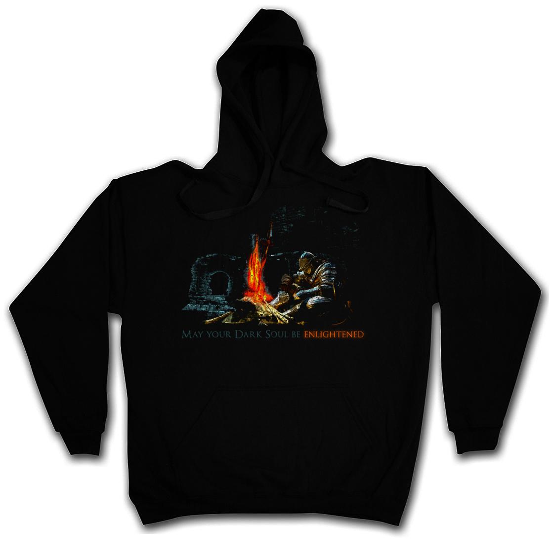 ENLIGHTENED DARK SOUL HOODED SWEATSHIRT HOODIE Dark Firelink Shrine Gamer Souls
