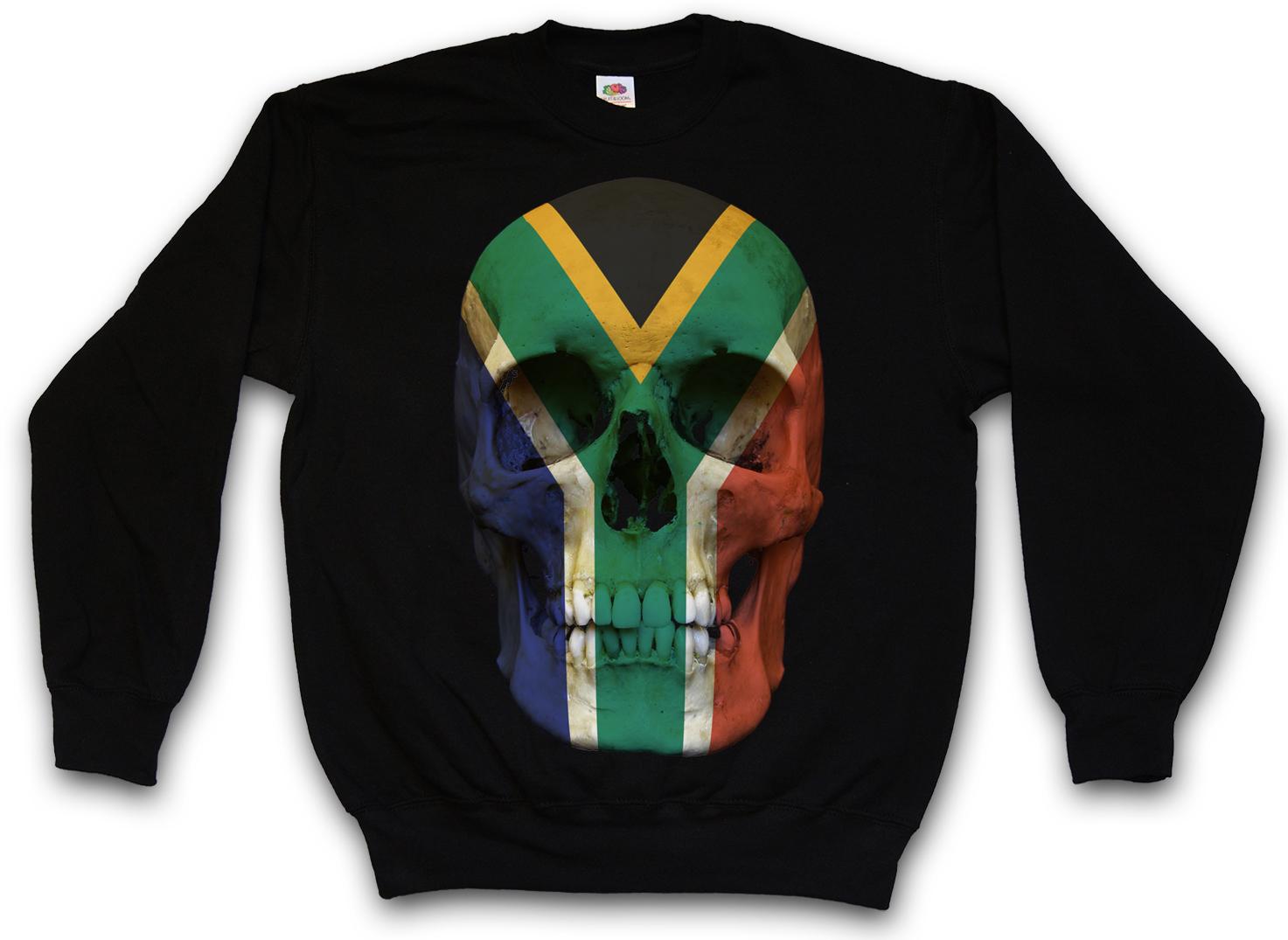 CLASSIC KENYA SKULL FLAG SWEATSHIRT PULLOVER SWEATER Banner Bker MC Africa