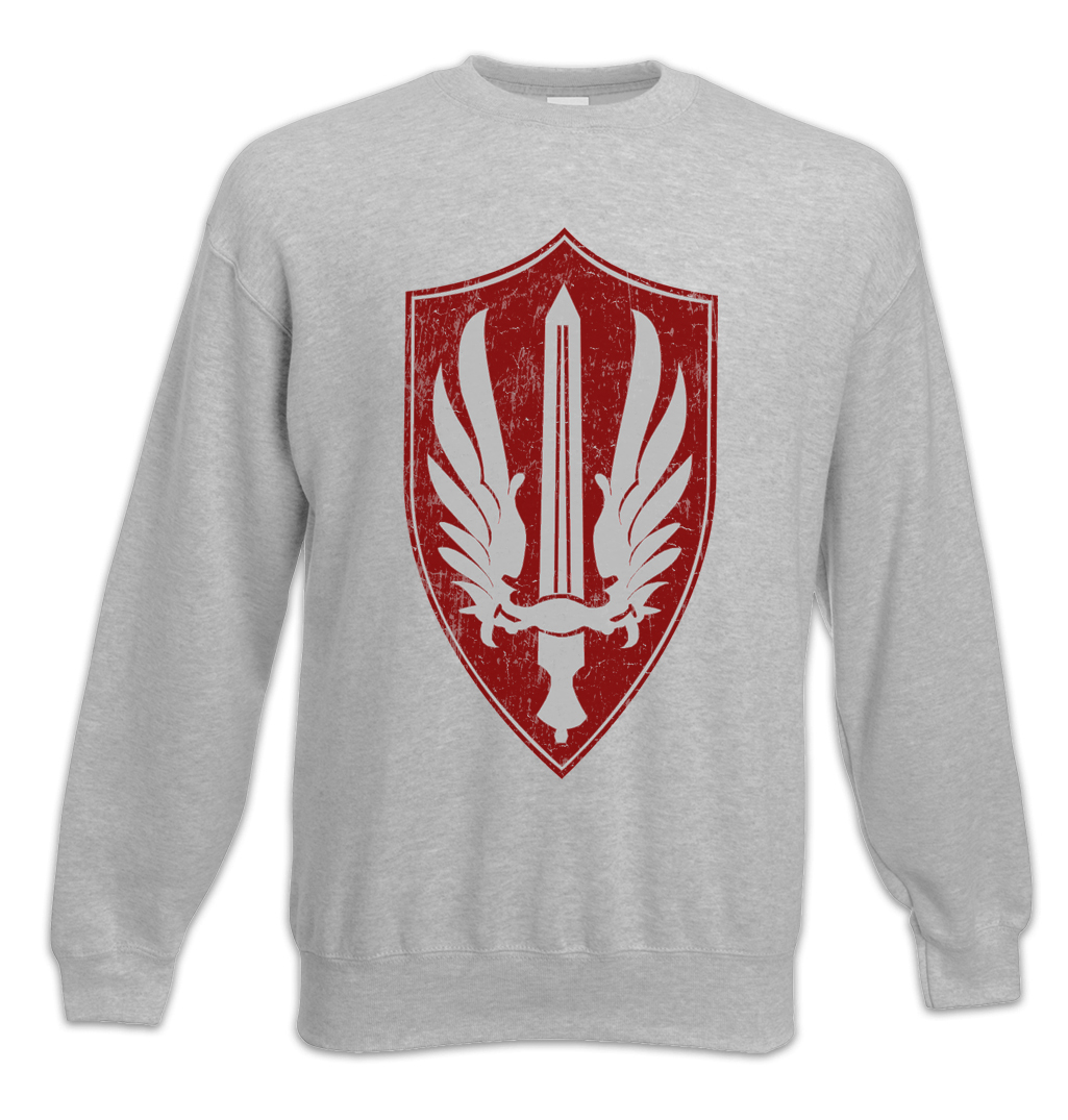 Battlestar Galactica Mens Red Aces Badge Pullover Hoodie