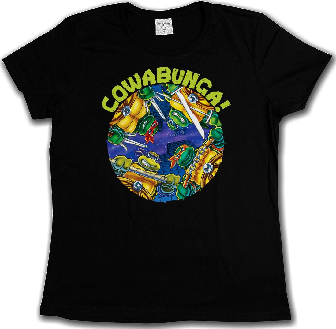 COWABUNGA HOODED SWEAT Teenage TMNT Mutant TV Ninja Hero Turtles Kapuzenpullover