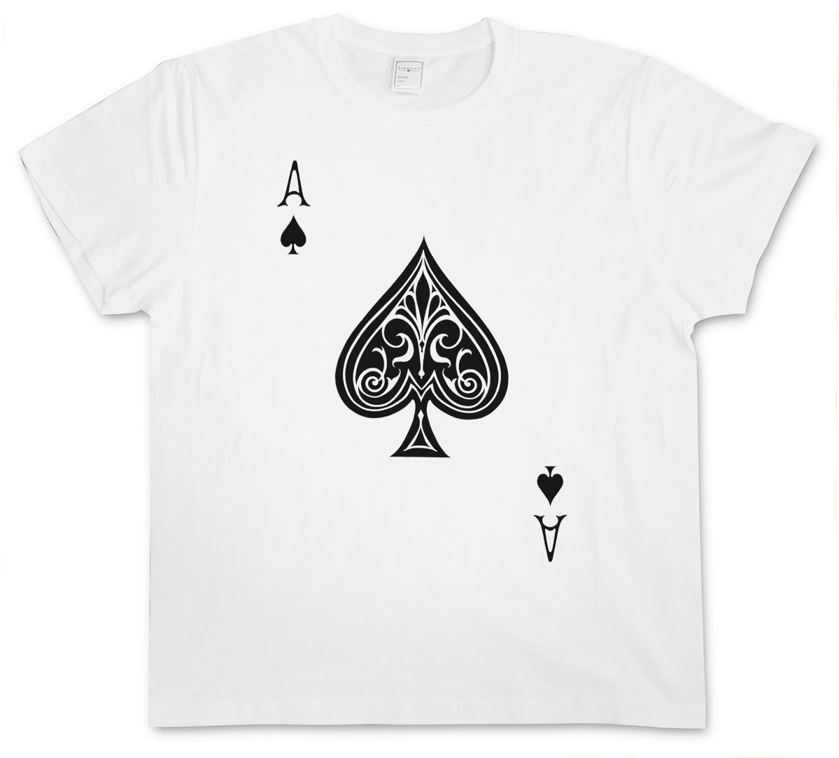 ACE OF SPADES III GIRLIE SHIRT Spade Poker Card Casino Karte Royal Flush Pik