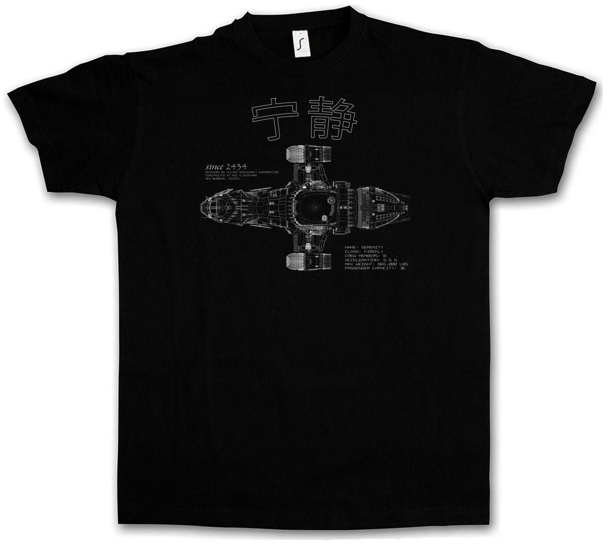 Serenity Blueprint t-shirt-Movie tv série Blue sun joss whedon FIREFLY t-shirt