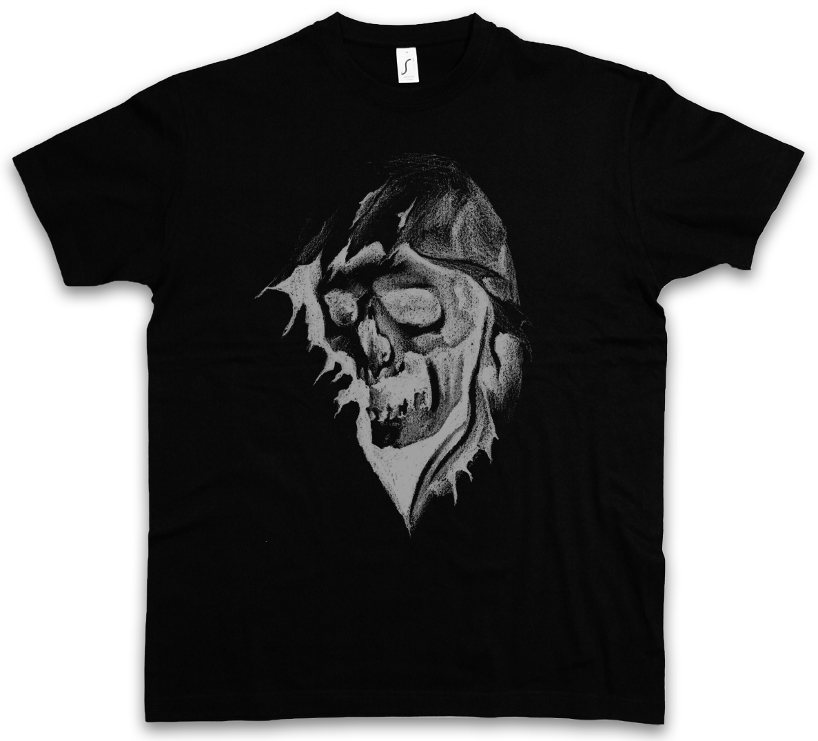 Times Up grim Death scythe skull Funny Graphic T-shirt Adult rock reaper  P629