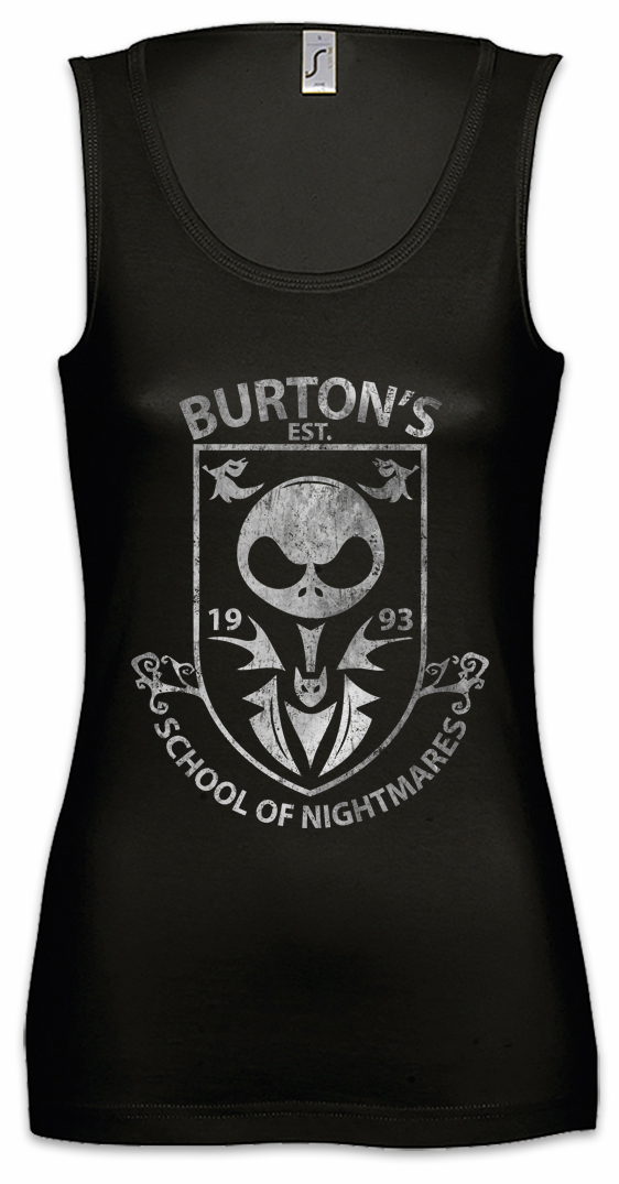 Christmas School Damen Tank Top The Tim Nightmare Fun Before Halloween Logo